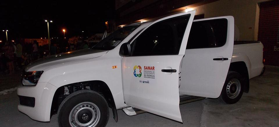 Veículo Amaroc, entregue à Secretaria de Saúde, para uso do Projeto Sanar. (Foto: Adelino Silva - Ascom/PMC)