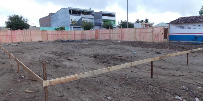 Começaram às obras do açougue público Novo Horizonte