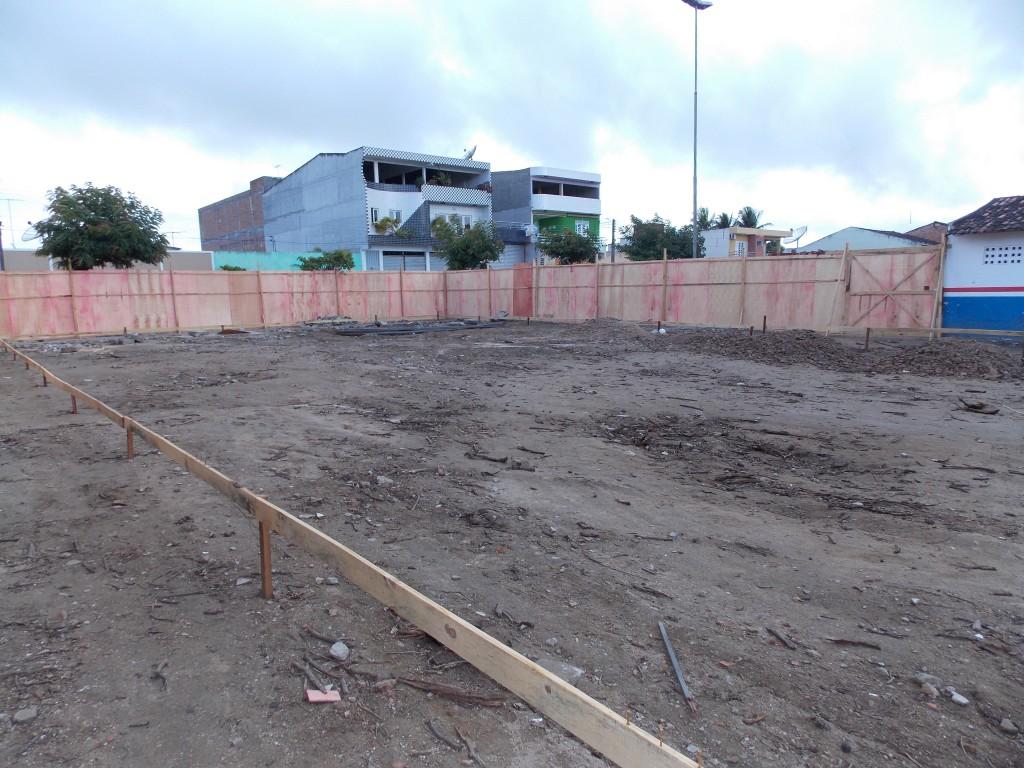 Obras iniciais do açougue público Novo Horizonte  (Foto: Adelino Silva - Ascom/PMC)