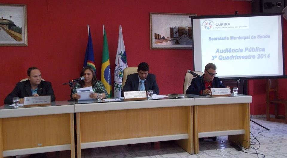 Secretária Maria Iolanda na abertura da audiência pública da secretária de Saúde (Foto: Adelino Silva - Ascom/PMC)