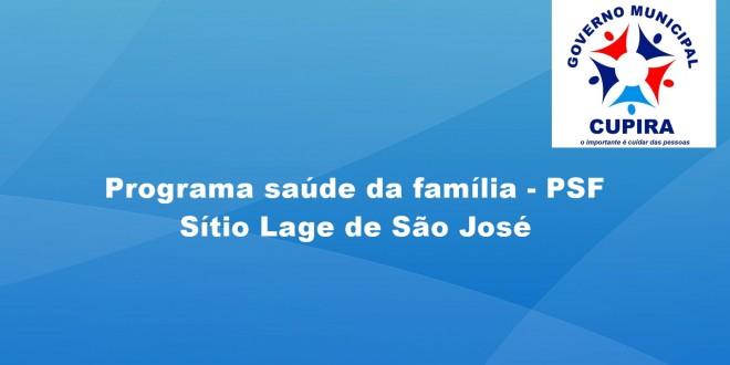 PSF do sítio Lage de São José é ampliado, o mesmo retorna as atividades segunda-feira, 27 deste mês