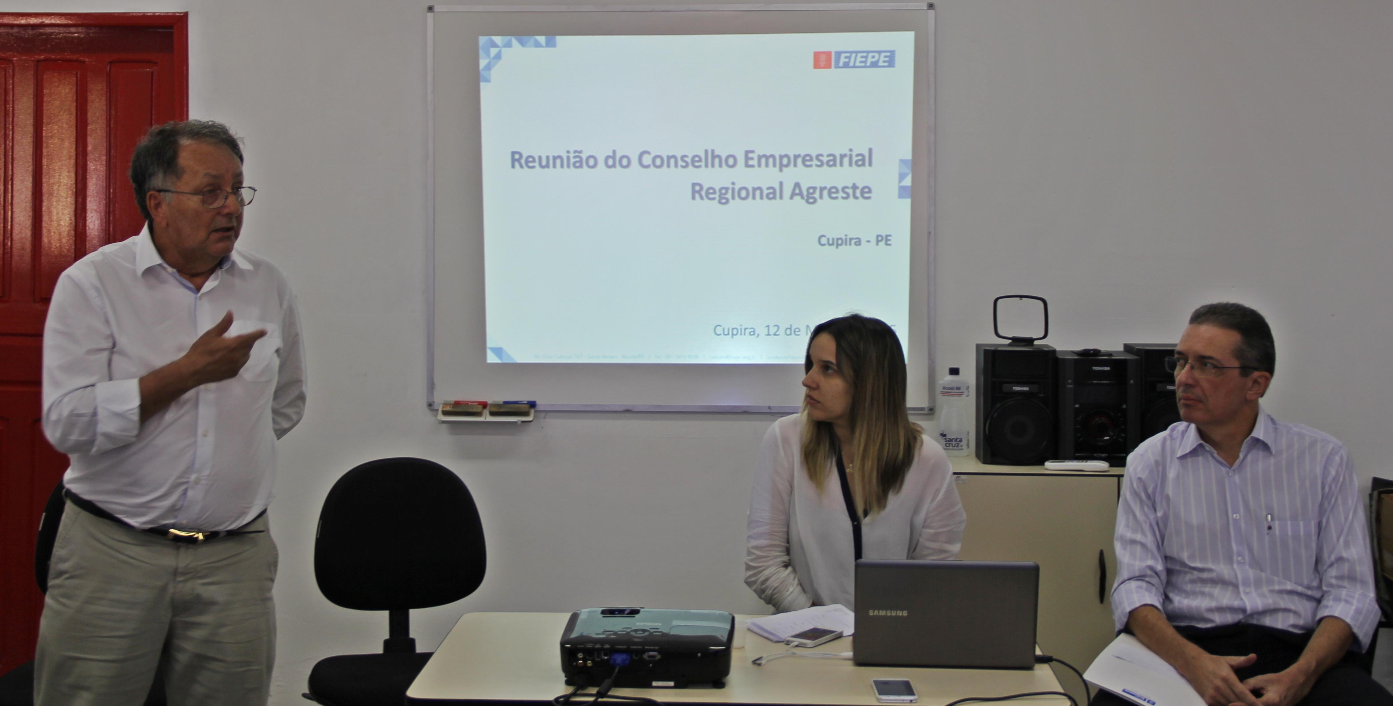 Representantes da FIEPE  na reunião empresarial (Fotos: Adriano Amaro - Ascom/PMC)