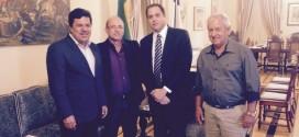 Prefeito Sandoval Luna esteve em audiência com o governador Paulo Câmera