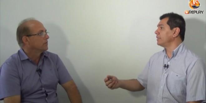 Prefeito Sandoval cede entrevista à TV REPLAY, nesta quarta-feira, 27 de maio