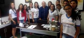 Prefeito Sandoval é entrevistado pelos alunos do EREM Professora Maria de Lourdes Temporal