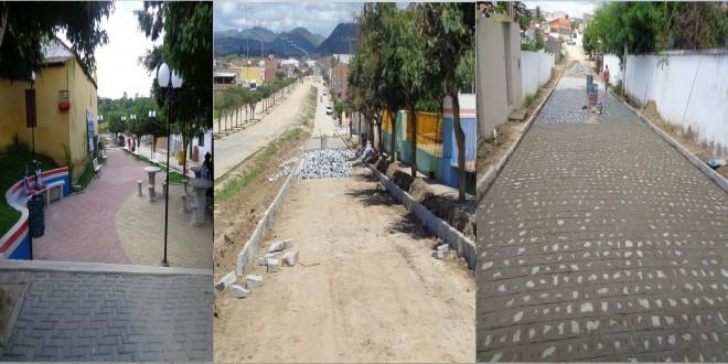 Praça da vila de Gravatá-Açu é concluída, mais ruas estão sendo pavimentadas