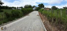 Processo de conclusão na estrada de acesso a Vila de Imbiruçu