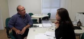 Prefeito Sandoval se reúne com a Diretora Presidente da EPTI para tentar fechar um convênio de cedência