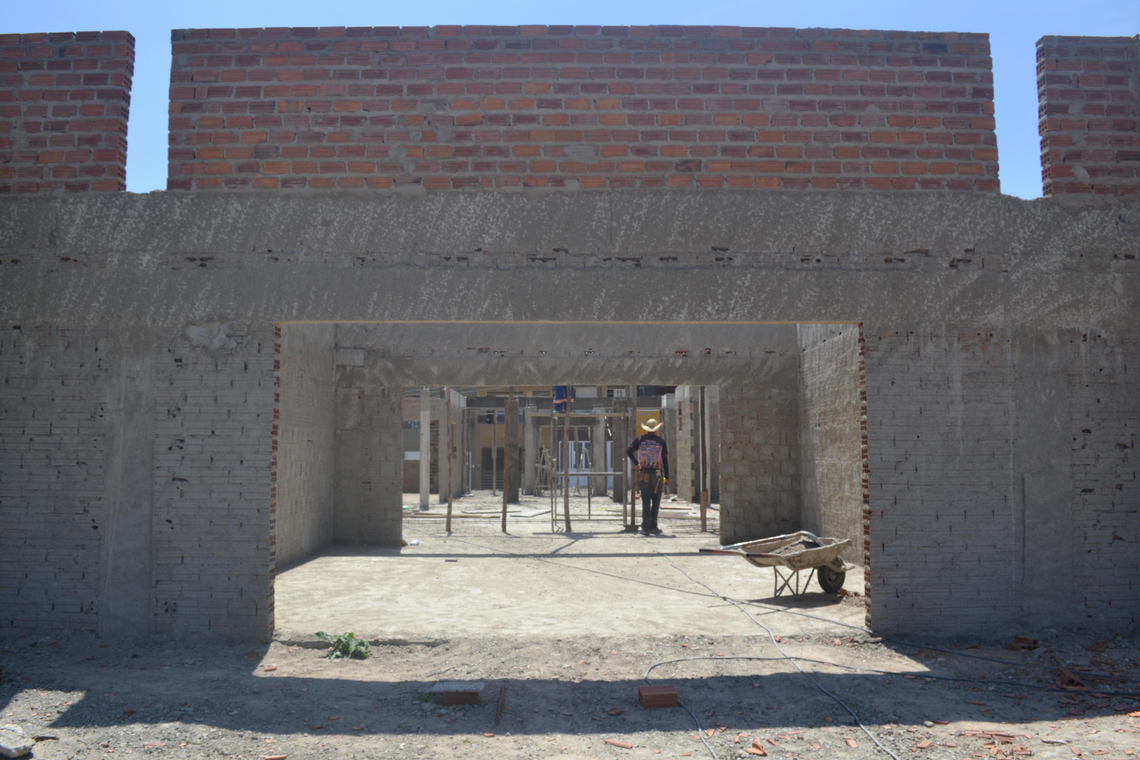 Construção da Creche tipo 2 em andamento