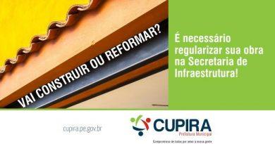 Antes de construir ou reformar o proprietário deverá procurar a  Sec. de Infraestrutura para fazer a regularização