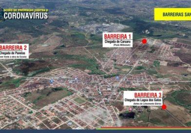 Barreiras sanitárias educativas são instaladas nas vias de acesso ao município