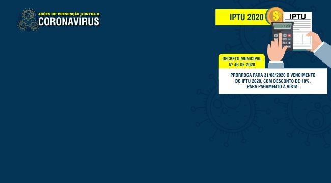 Pagamento do IPTU é prorrogado para agosto de 2020